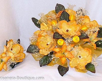 Quinceanera Bouquet in Yellow