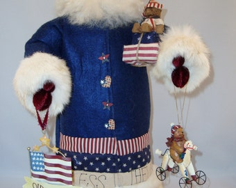 "Patriotic Santa - Santa Claus Doll - 22"" Tall"