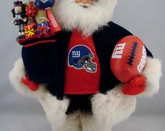 "New York Giants Santa - Santa Claus Doll - 18"""