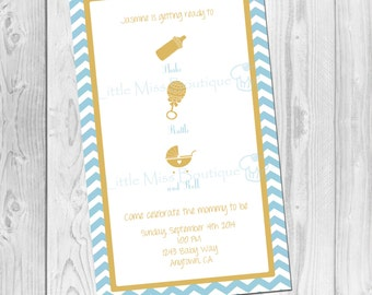 Shake, Rattle & Roll Baby Shower Invitation - Baby Shower Invitation