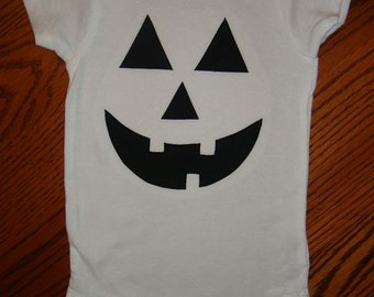 Jack O' Lantern Pumpkin Applique Onsie - choose your size