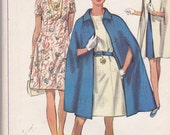 Simplicity 8108 Vintage Pattern Womens Loose Fitting Straight Line Dress and Cape Size 18 1/2 UNCUT