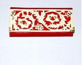 """Women's leather color Wallet """"Fleur"""" (17 * 8,5 cm)"""