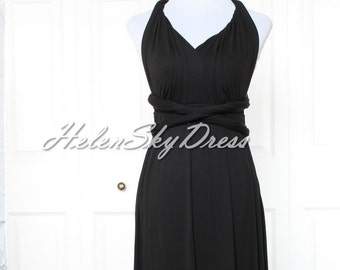 Convertible black Dress ,Bridesmaid Infinity Dress, Prom dress