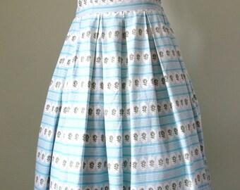 1950's Dress - Blue Halter Neck