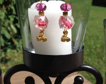 Pink Glass and Gold