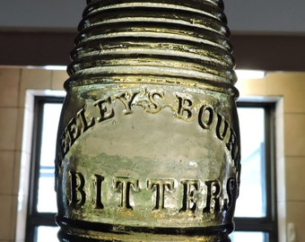 Greeley's Bourbon Bitters Barrel Figural