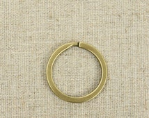 10 pcs High Quality Brushed Anti-Brass Key Ring - Keyring , Key Chain, Keychain, Key-Chain, inner Diameter 2.3/2.5 / 2.8cm