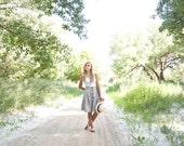 Summer Button Skirt | Black and White Skirt
