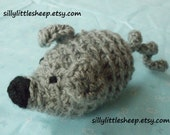 Mouse crocheted and stuffed child, baby, toddler toy, soft and squishy
