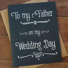 Wedding Day Gift For Father Of The Bride : ... Bride Gift - To My Father On My Wedding Day - Wedding Day Card for Dad