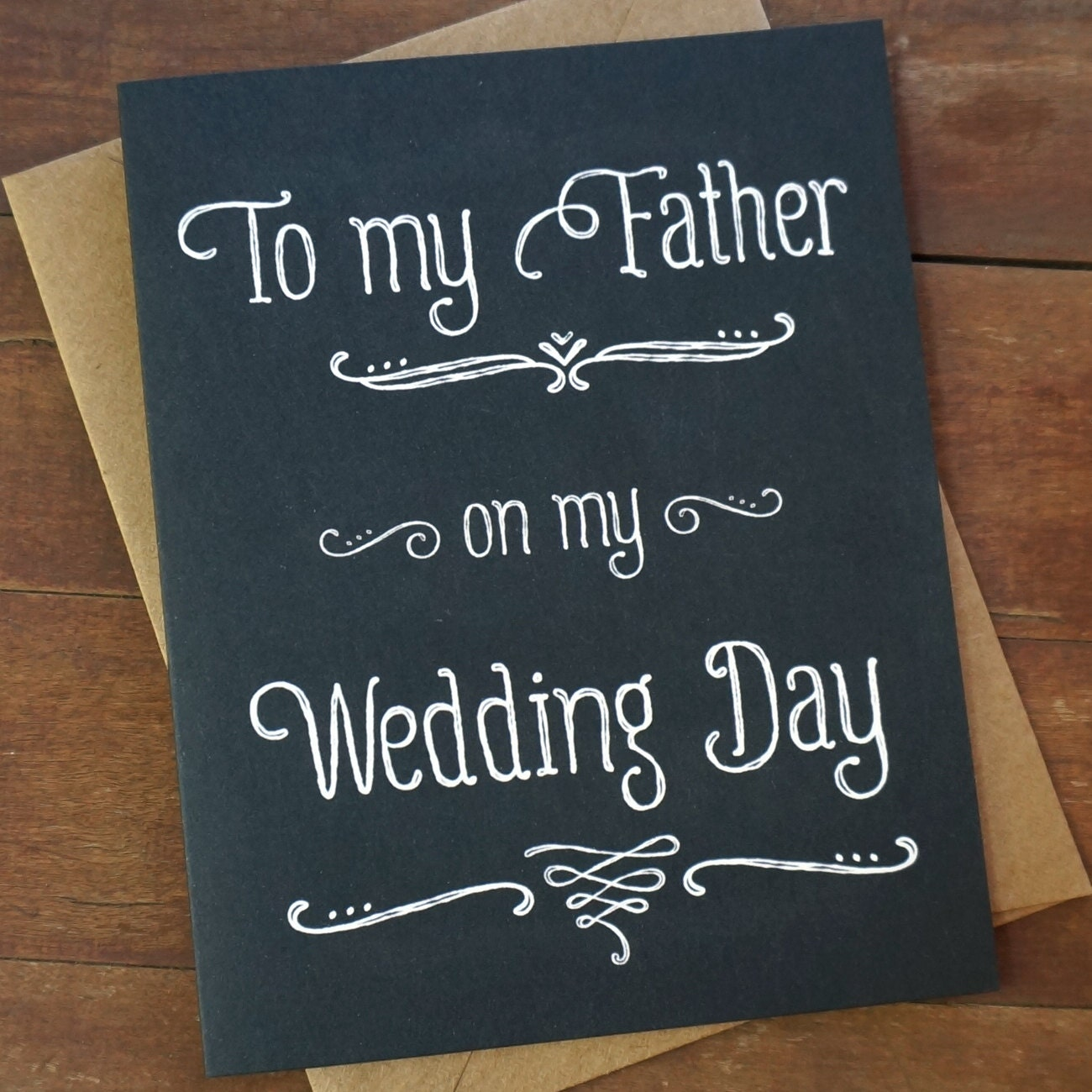 Wedding Gifts For Fathers: Dad Wedding Card Father Wedding Card To My Father On My