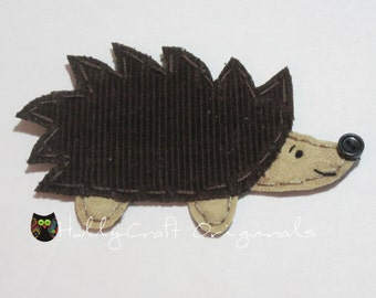 Hedgehog Applique, Hedgehog Scrapbooking Embellishment, Hedgehog, Fabric Hedgie, Hedgie Applique, Patch