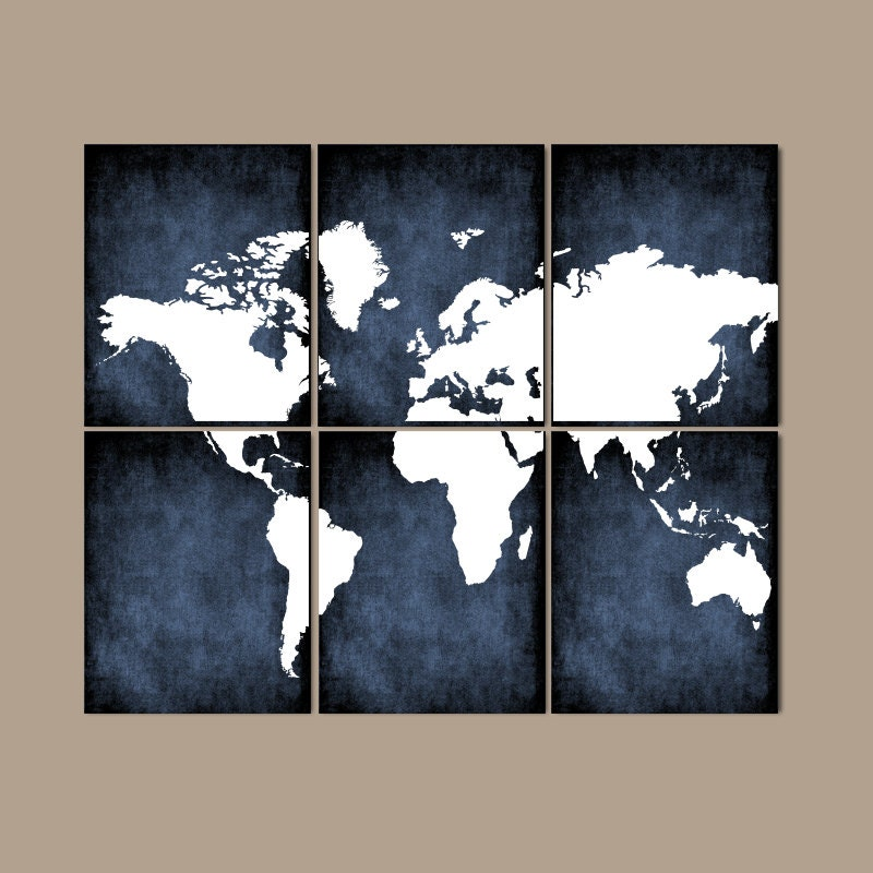 World map wall art canvas or prints bedroom pictures grunge for World map wall print