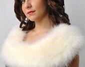 Versatile Bridal Marabou  Wrap - Collar - Shrug