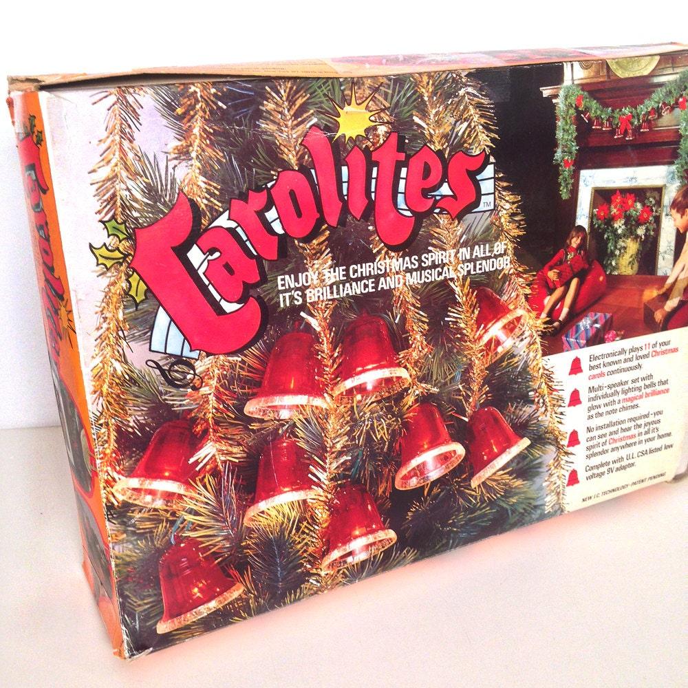 vintage Carolites musical bell Christmas string lights