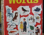 Vintage Golden Book, Words, Little Golden Book, by Selma Lola Chambers, Illustrations by Gertrude Elliott