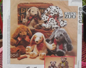 McCall's 8550 - Cute Easy to Sew Dog & Cat Stuffed Animals - Only 2 Pieces - Sweet Gift Idea - Great Pattern - DIY Plushie Heirloom Gift