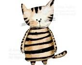 Striped Cat - open edition print