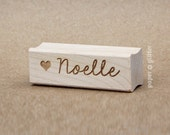 Personalized Rubber Stamp Handwritten Script with Heart