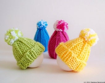 Knitting PATTERN, Egg Cozy Pattern, Egg Cosy Pattern, Egg Warmer Pattern, Egg Hat Pattern