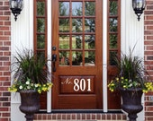 Front Door Number Decal • Street Number On Your Front Door Adds Curb Appeal - House Address Number Door Decal Spring Decor Made In Usa Z45