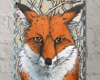 Fox Wood Burning - Fox Painting