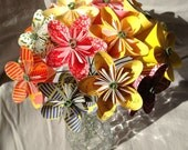 Flower Bouquet 'Sunshine', Flower Arrangement, Paper Flowers, Origami Flowers, Office Decor, Cancer Patient Gift, Anniversary Gift