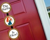 Brave Merida Princess Welcome Door Sign Party Printable - Stick to Your Story