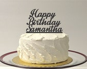 Personalized Happy Birthday Cake Topper - Custom Birthday Cake Topper - Birthday Party - Personalized Cake Topper Happy Birthday