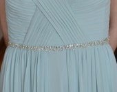 Bridal Sash, Bridesmaid Belt, Diamante Sash, Wedding Belt, Rhinestone Belt, Wedding Sash, Bridal Belt, Rhinestone Swag, Crystal Belt