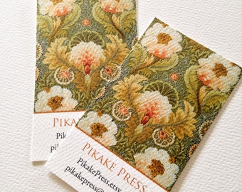 Personalized Business Card Calling Card Vintage Embroidery - Set of 50