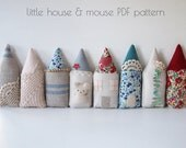PDF Pattern Little House and Mouse Simple Sewing DIY