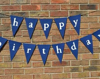 Happy Birthday banner  ..   Party Banner  ...   Adult Birthday  ..  Boy birthday