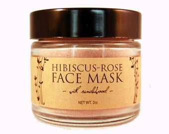 Hibiscus-Rose Mask with Sandalwood