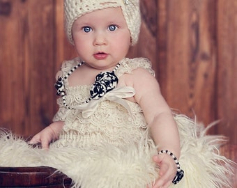 Baby Girl Hat, Baby Girl Flapper Hat, Girl Handmade Hat, Kids Hat, Girl Hat, Girl Hat, Baby Hat, Cream. Photo Props. Baby Gift.