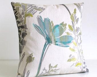 Feminine Pillow Cover, 16 Inch Floral Cushion Cover, 16 Inch Pillow Sham - Meadow Fresh