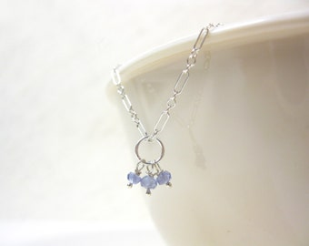 Natural Tanzanite Jewelry - Tanzanite Charms - Sterling Silver Charms - Periwinkle Blue Jewelry - Periwinkle Jewelry - JustDangles