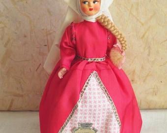 Italian Juliet (Giulietta) costume doll, vintage, Italy, Eros, Romeo and Juliet, shakespeare, european doll, folk doll