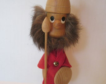 Fierce Danish Viking Warrior with Fur Beard