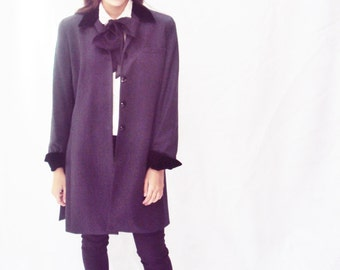 Edwardian Blazer, velvet collar, wool, MOD, ruffles style, Chesterfield jacket, l