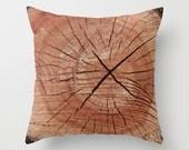 Wood Grain Pillow Cover, Photo Pillow Case, Camo Pillow Cover, Woodland Pillow case