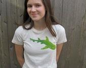 RESERVED for Priscilla.  Shark T-Shirt, Unbleached Organic Cotton, Sea T Shirt, Beach Wear, Summer, Dogfish TShirt, Ocean Animal, Nautical