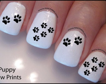 Paw Print Nail Decal Dog paw Design Nail Art
