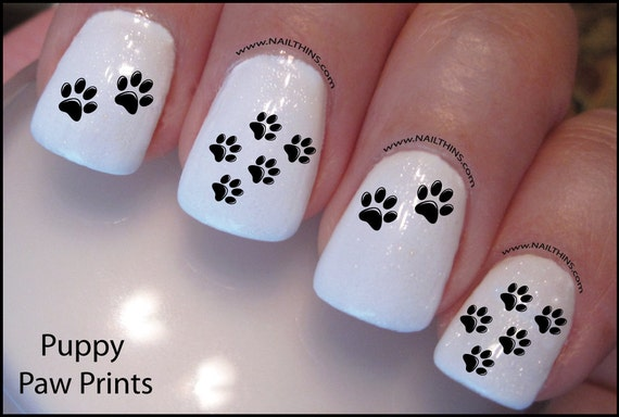 Paw Print Nail Decal Dog paw Design Nail Art from DowningStDesign on Etsy  Studio - Paw Print Nail Decal Dog Paw Design Nail Art From DowningStDesign