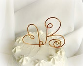 Copper Cake Topper, Rustic Details, Ranch Wedding Decor