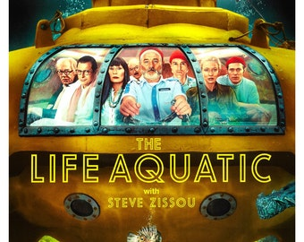 "The Life Aquatic with Steve Zissou - Home Theater Media room Decor - 13""x19"" or 24""x36"" - Bill Murray  Wes Anderson - Media Room decor"