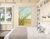 beach art // beach canvas // large beach photography - Seagrass, photograph on large art canvas