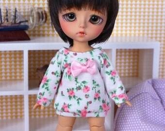 Pink Flower Sweater (long) for PukiFee/LatiY