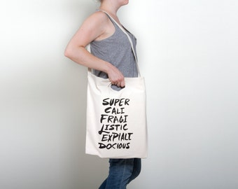 Supercalifragilistic Tote Bag - Mary Poppins